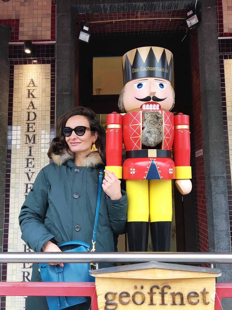 Berlin winter street style nutcracker
